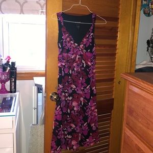 Stunning Pink Floral Long Dress - Never Worn
